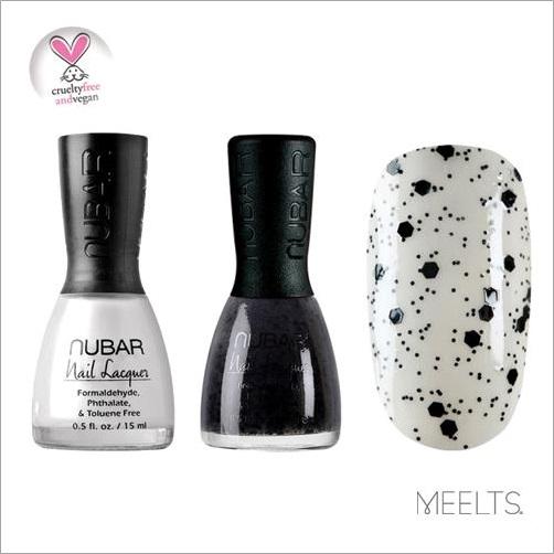 Esmaltes Nubar - Cloud White e Black Polka Dot