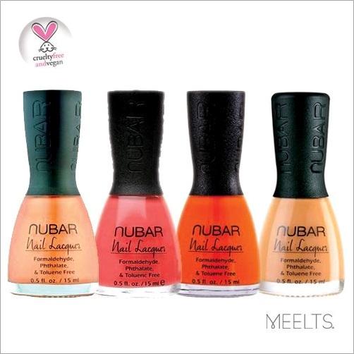Esmaltes Nubar - Orange Crush, Palau Coral, Hot Orange e Orange Cream