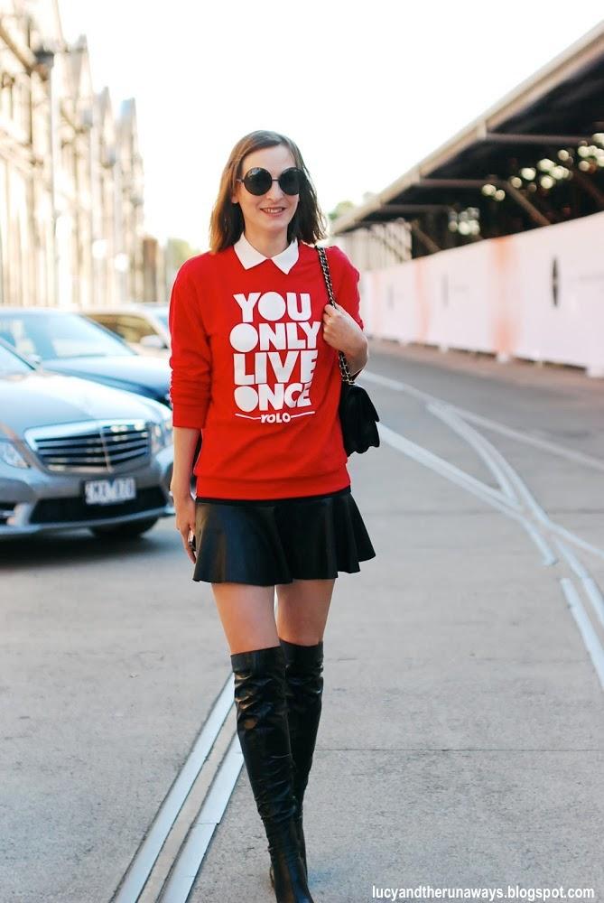 15e MBFWA Sydney 2013 streetstyle Crashing Red Blogger