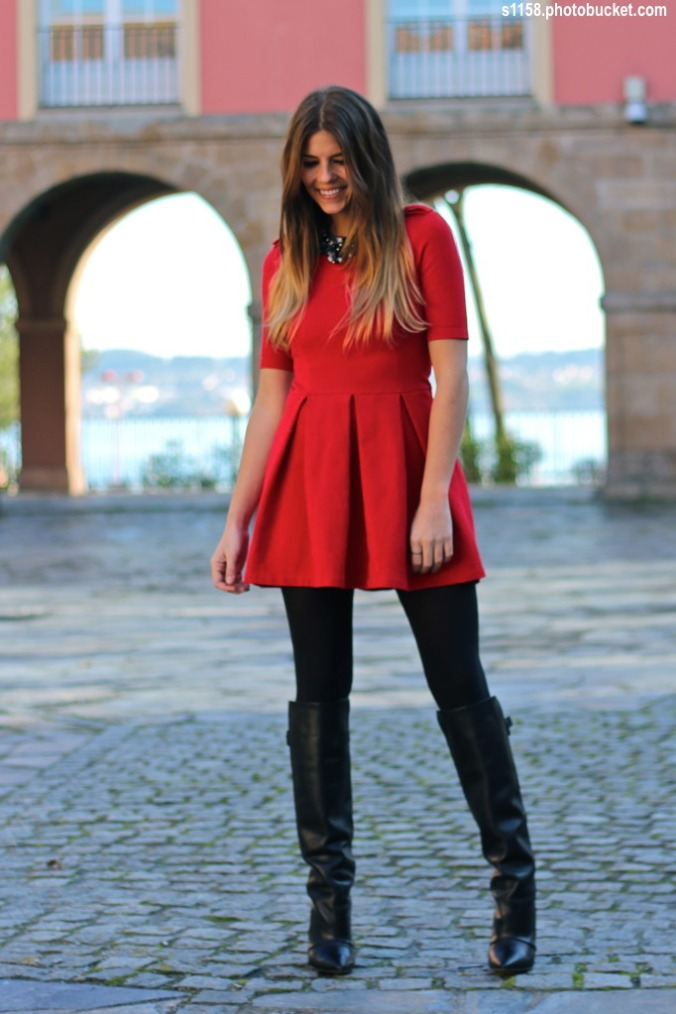 street-style-trendy-taste-red-dress-zara-boots-2